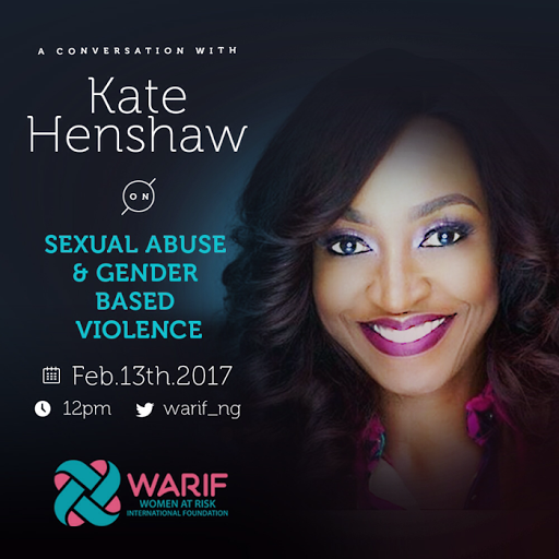 KATE HENSHAW TO TALK NOLLYWOOD, SEXUAL ABUSE & GENDER BASED VIOLENCE ON TWITTER WITH WARIF