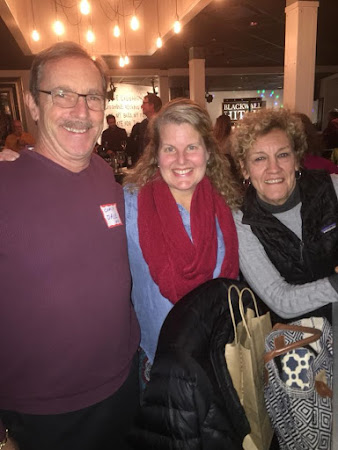 Coach David Dold, Sandy Kellstrom and Doreen Byrne with their contagious smiles