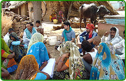 Focus group discussions at Dholpur to determine livelihood options under RRLP