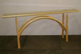 Photo: Bob Heelan's first project Hall table Silver Ash