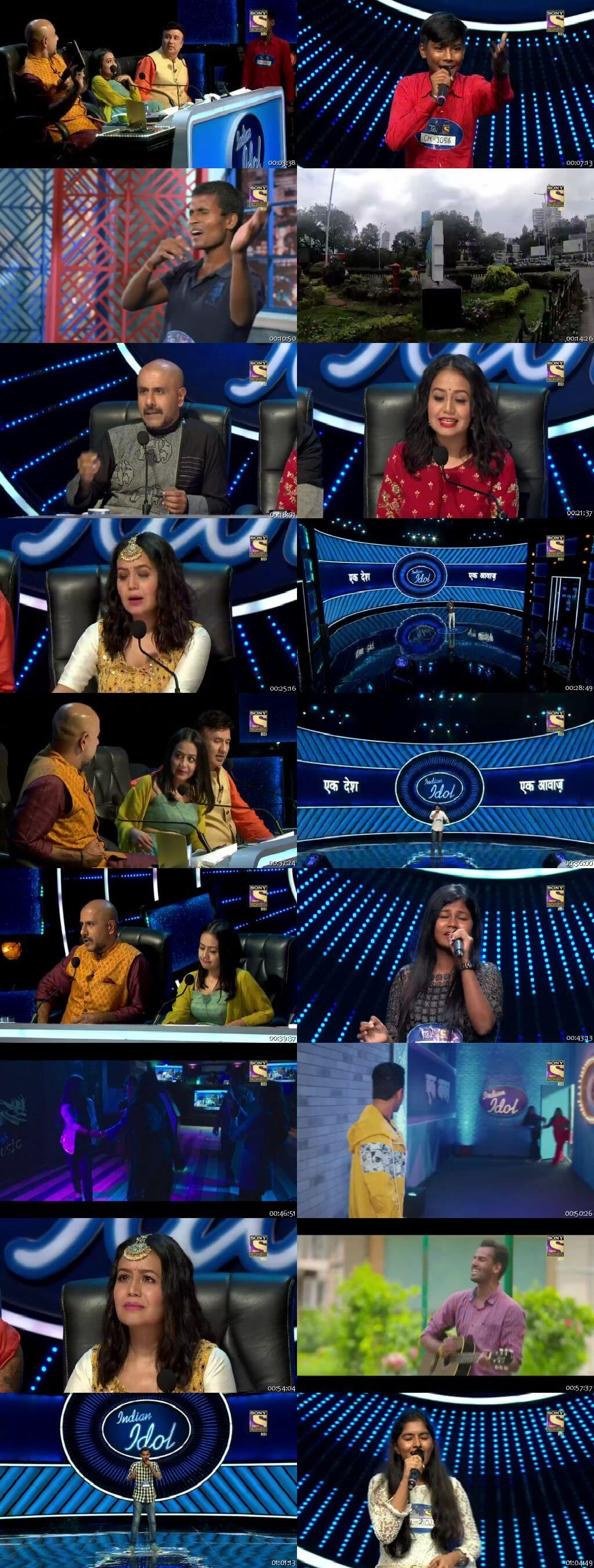 Screenshots Of Hindi Show Indian Idol 19th October 2019 Episode 03 300MB 480P HD
