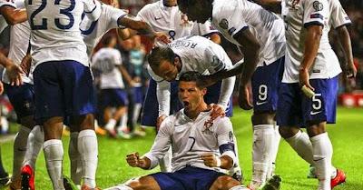 Golo decisivo de Cristiano Ronaldo no Dinamarca - Portugal relatado por Nuno Matos da Antena 1