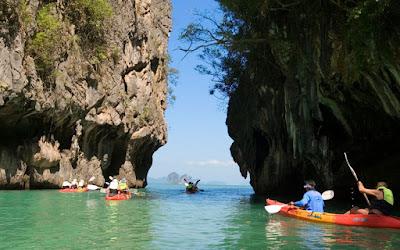 Sea Kayaking at Hong Island by Longtail Boat from Ao Thalane