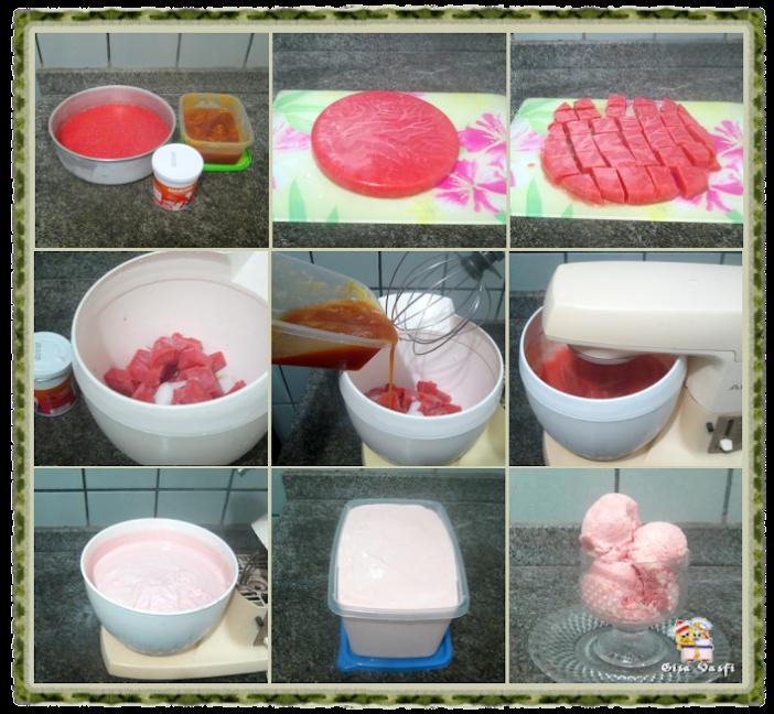Sorvete de acerola sem leite condensado 3