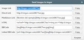 Como subir imágenes a ImgUr . Enlaces.