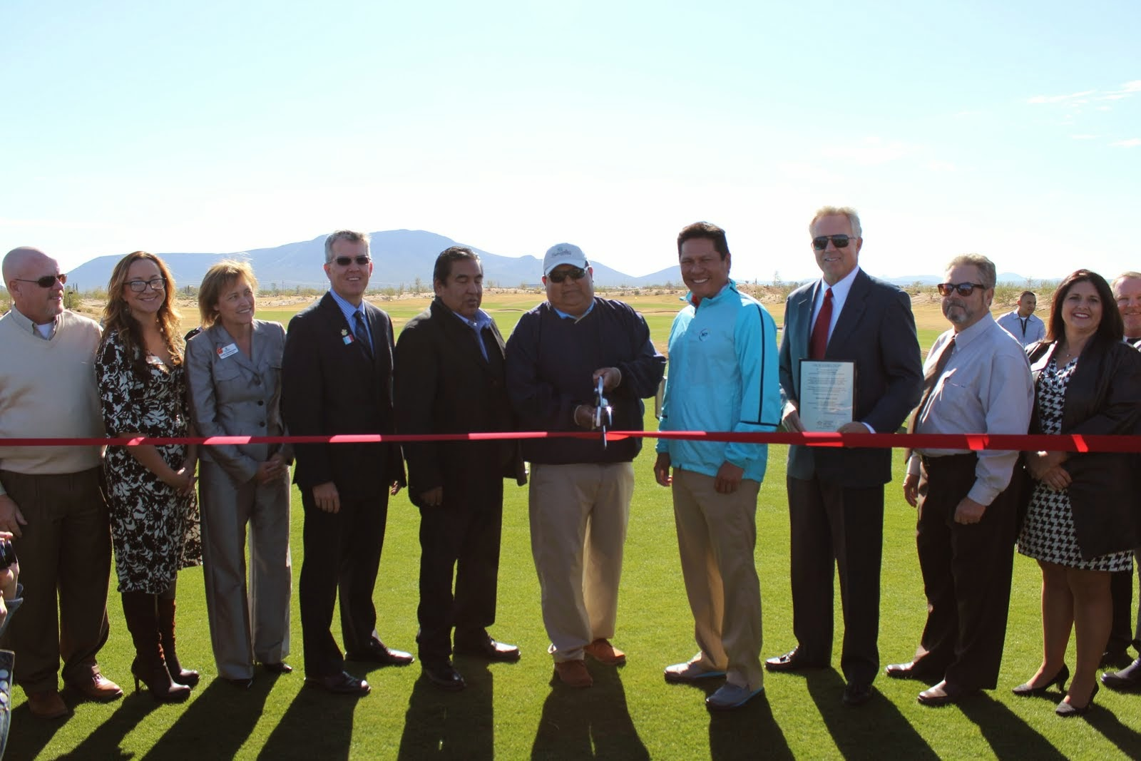 Begay III, Jim Burns, Peter Yucipicio and John Escalante officially open Sewailo Golf Club on December 12. Sewailo is the first new course in Arizona in over four years and was designed by Notah Begay and Ty Butler. The course will be managed by Casino Del Sol Resort in partnership with Troon Golf.