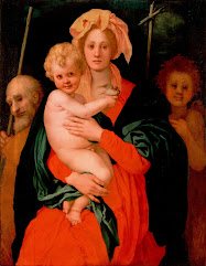 PONTORMO, Jacopo Madonna and Child with St. Joseph and Saint John the Baptist 1521-27