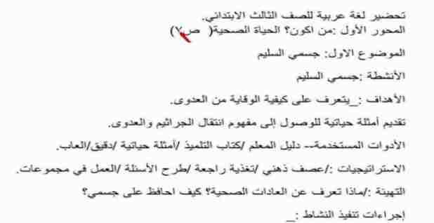 تحضير 28 درس لغة عربية للصف الثالث الابتدائي 2021