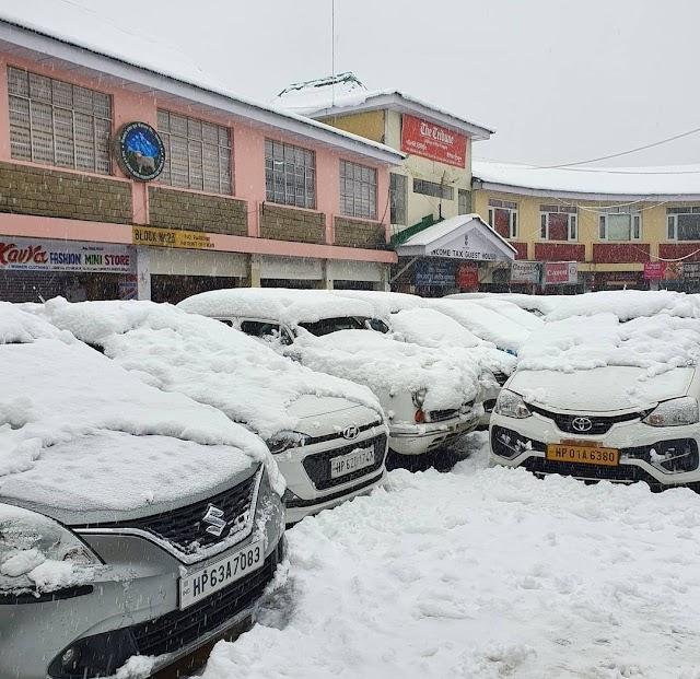 December -January  Shimla, Solang, Kufri don white mantle