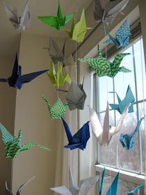 diy paper crane mobile origami