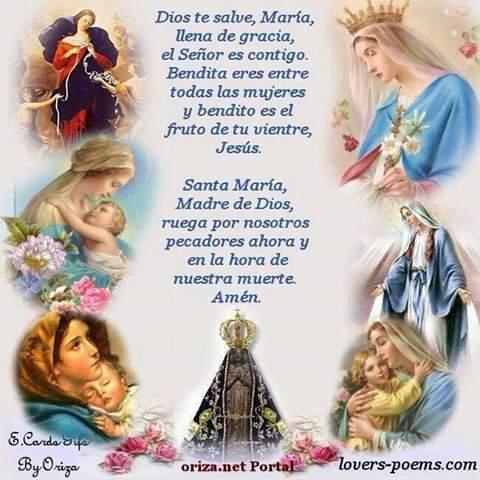 983bb078aa Jesús y la Bella María están siempre con nosotros  Ave María ...