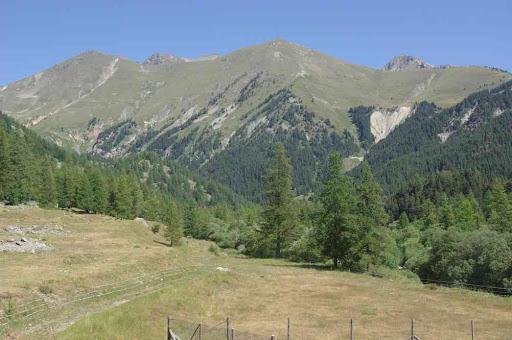 Vue depuis Castérino (fin prématurée de la randonnée)