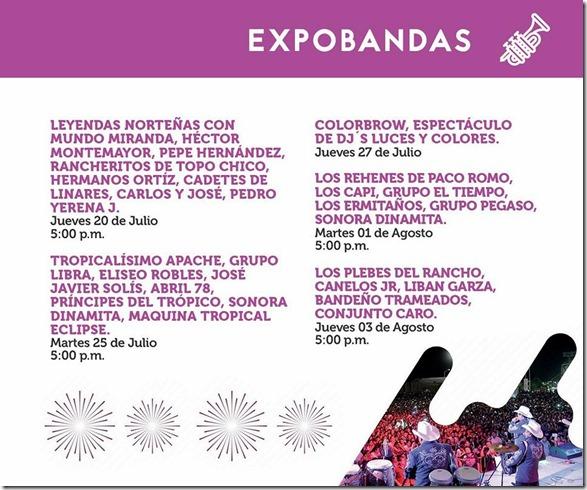 Expobandas en Expo Feria Nacioal de durango 2017 no te lo pierdas
