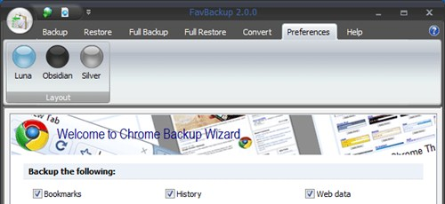 Backup chrome browser