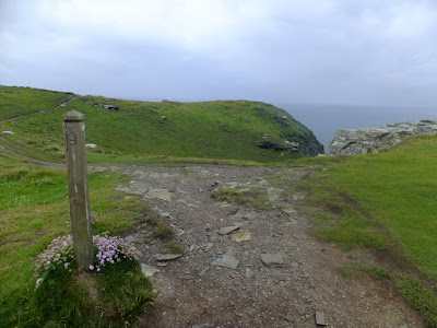 Coastpath waymarker at Ladies Window