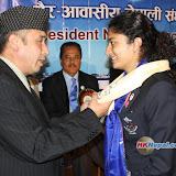 नेपाली ओलम्पिक टोलीलाई सम्मान, तस्विरः अजय फुयाल