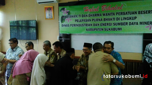 Silaturahmi Jadi Poin Utama Halal Bihalal Dinas Pendustrian dan ESDM Kabupaten Sukabumi