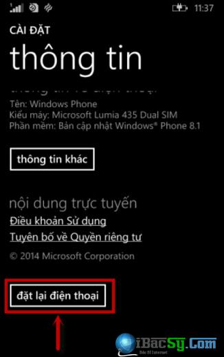 Các bước xóa tài khoản Microsoft cho Windows Phone + Hình 4