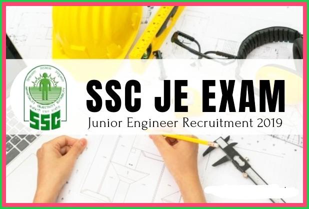 SSC JUNIOR  RECRUITMENT 2019 -APPLY ONLINE FOR VARIOUS JUNIOR ENGINEER POST-LAST DATE 12TH SEPTEMBER 2019