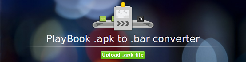 Apk2Bar - PlayBook .apk to .bar Converter