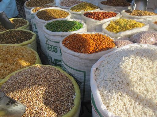 At the market, India