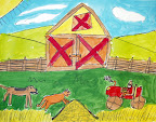 Farm Painting by Ketie