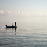 29. Holy Monastery of Iviron. Monks return from fishing.