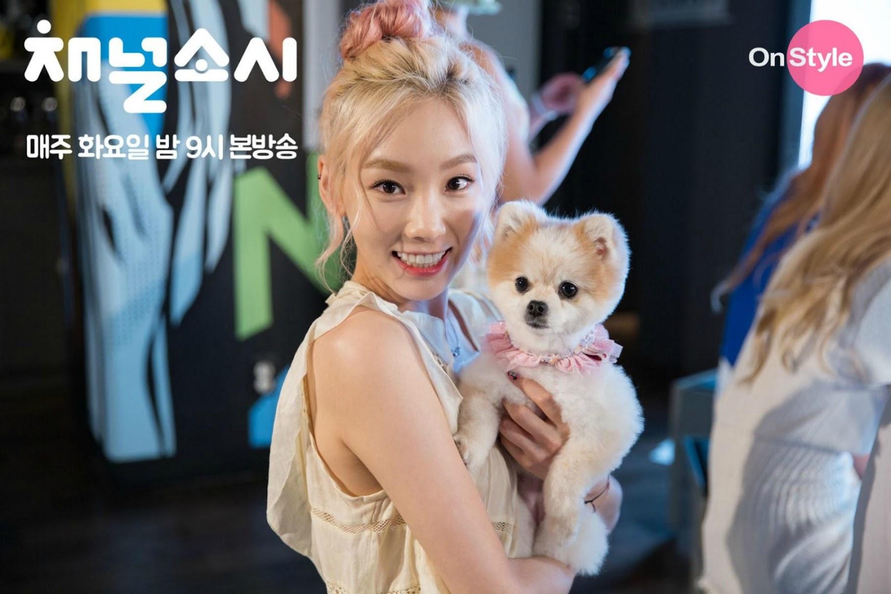 150804OnStyleChanne-SNSDのイヌと一緒の少女時代テヨン