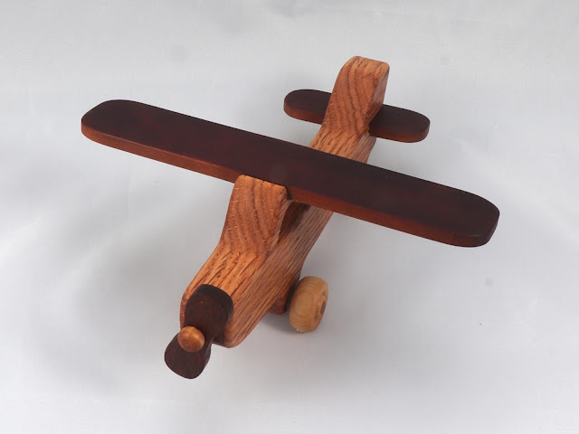 Handmade Wooden Toy Airplane Play Pals Cessna Skyhawk