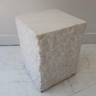 Calcutta Marble Side Table #1