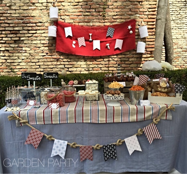 Garden party mesas dulces m laga mesa dulce marinera for Mesa dulce marinera