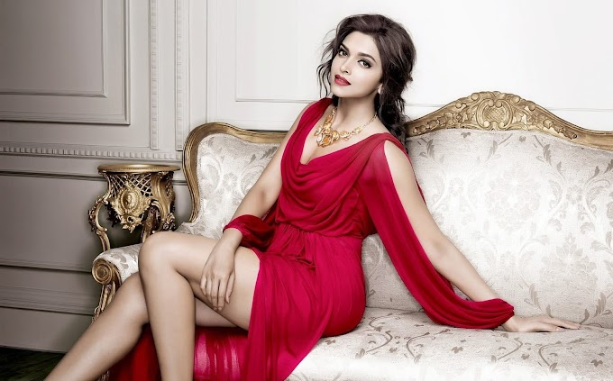 Charming Pics Of Deepika Padukone is an In Red Gown