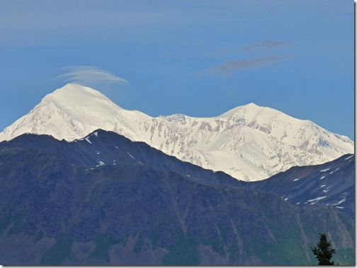 Mt. Denali, north view in Denali State Park