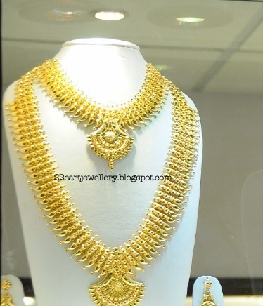 22 Carat Gold Bridal Jewellery Designs