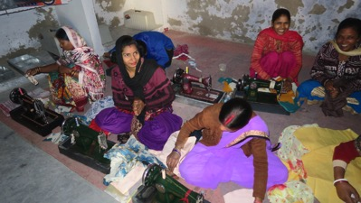 Women in Sewing Class