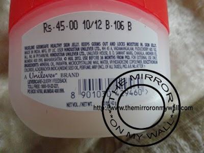 Vaseline Healthy Skin Jelly GermSafe 5.JPG
