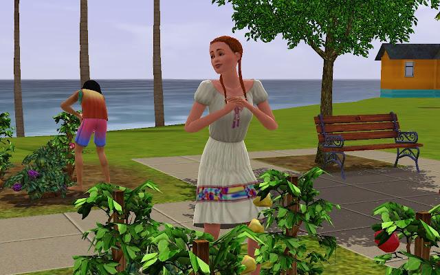 Mary en el huerto