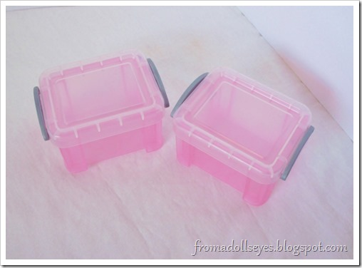 "Some ""very useful boxes"".  Good for sorting crafts and doll stuff."