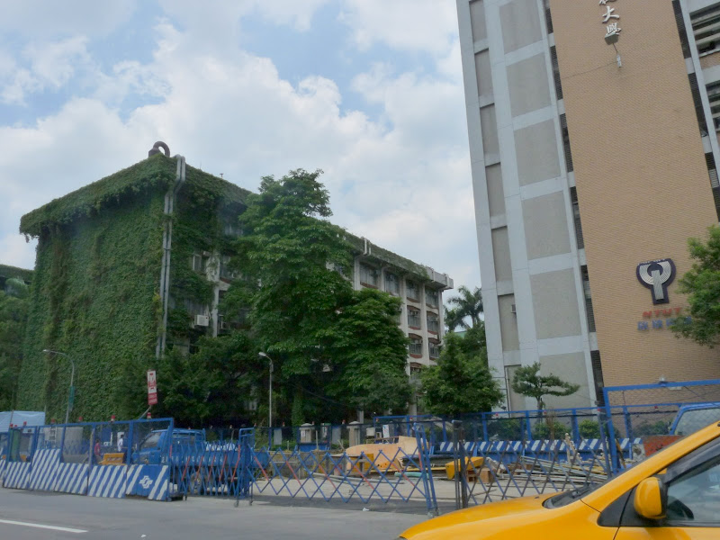 Il est assez rare de voir un immeuble couvert de végétation naturelle à Taïwan