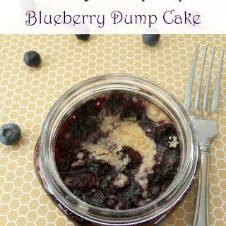 Mason Jar Desserts ~ Blueberry Dump Cake