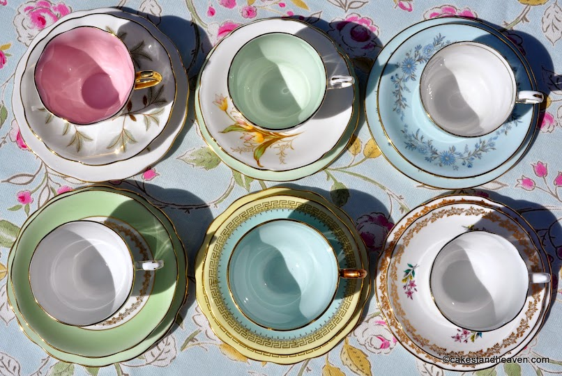 Pastels Tea Set Trios
