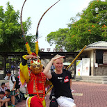 a famous chinese stance - dance off in Tainan, T'ai-nan, Taiwan