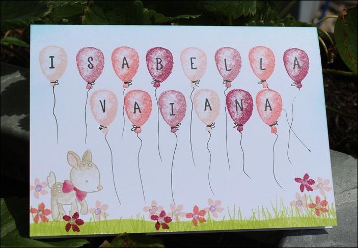 Baby Girl Card Glückwunschkarte Geburt 00