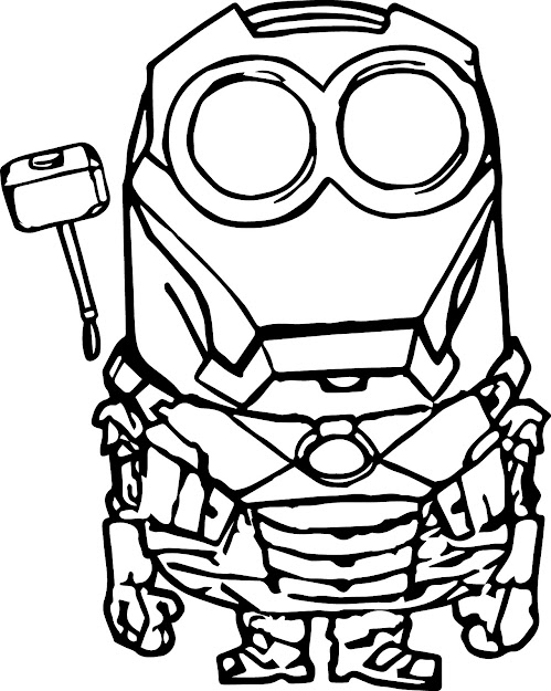 Minion Coloring Page With Robot Minion Coloring Page