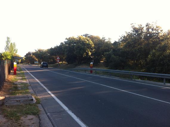 Ruta en bici del Anillo Verde a la Presa de El Pardo, mayo 2012