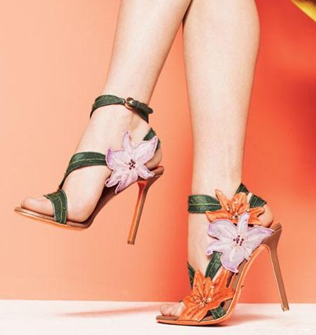 Inspiração flores - sandália