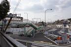 御影駅北側。道路工事で様変わりしています(2011/1)