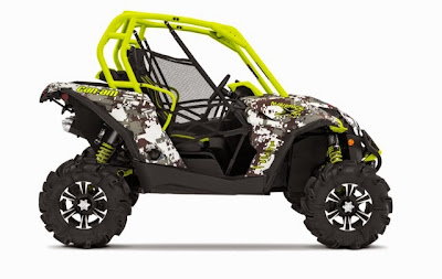 2015 Digital Camo and Manta Green Can-Am Maverick 1000R X mr