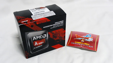 AMD A-Series APU Godavari A10-7870K package and Bundle Video Game Dragon Quest X: Awakening of the Five Tribes Online