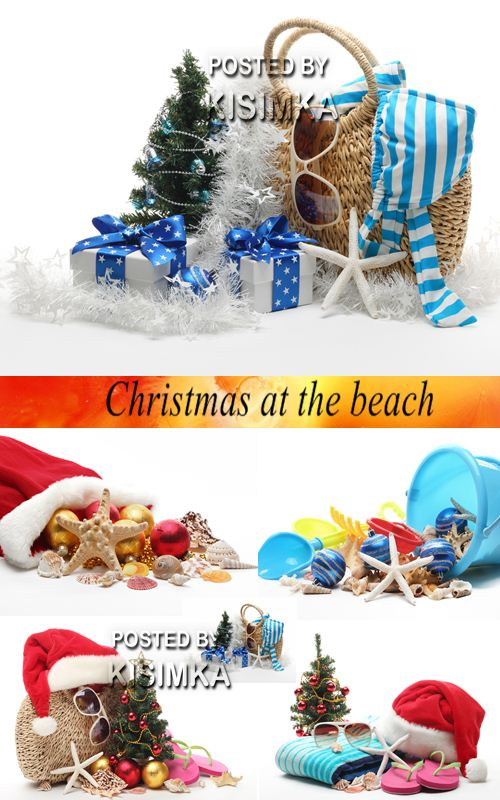 Stock Photo: Christmas at the beach
